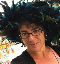 Tina in feathered hat